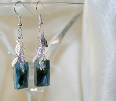 Swarovski crystal earrings, aqua earrings, trendy jewelry, bridal earrings, wedding jewelry, dangle earrings, handmade