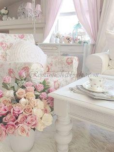 My Shabby Chic Home  Romantik Evim Romantik Ev                                                                                                                                                      More