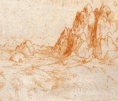 Leonard de Vinci / Leonardo da Vinci  Paysage alpin - v. 1499 / 1501