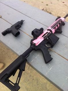 "Never was into pink guns much, but I like this :) >>> this is one of those ""cool story bro, tell it again"" moments"