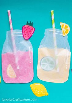 Pretend Play Food – Frosted Lemonade Paper Craft Enjoy summer with a cool frosted lemonade paper craft – you'll realize that you can make lemonade out of anything life gives you – including craft paper! Summer Crafts For Toddlers, Summer Arts And Crafts, Diy Arts And Crafts, Summer Kids, Spring Crafts, Toddler Crafts, Crafts For Teens, Preschool Crafts, Art For Kids