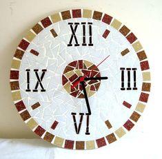 Mirror Mosaic, Mosaic Art, Mosaic Designs, Mosaic Patterns, Wall Watch, A Wrinkle In Time, Mosaic Flowers, Mosaic Madness, Clock Decor