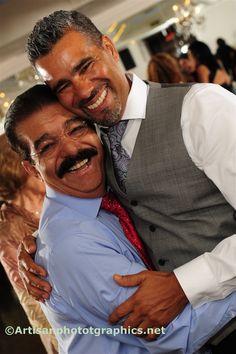 Dad and Grandpa hugging