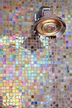 Amazing Shower Tiles - rainbow multicolour shimmer