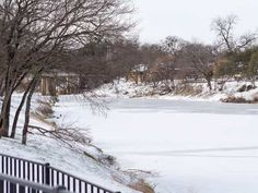 Ice out in Glen Rose