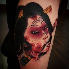 i like horimono. - Namakubi on @acb_tattoo_art...