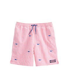 ff4297b623079 Boys Micro Gingham Whale Embroidered Chappy Trunks Baby Boy Swimwear, Boys  Swim Trunks, Vineyard