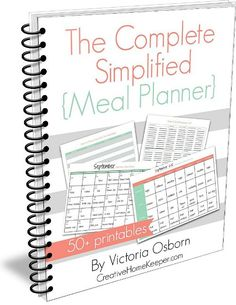Free Complete Simplified Meal Planner Workbook Download Download a free Complete Simplified Meal Planner workbook. This 50+ page workbook is filled with everything you need to create a meal planner that simplifies your life and organizes all of your meal planning supplies into one place.