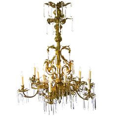 A Bronze Bagues Style Chandelier   From a unique collection of antique and modern chandeliers and pendants  at http://www.1stdibs.com/furniture/lighting/chandeliers-pendant-lights/