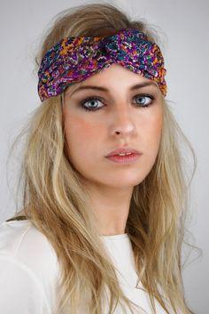 The Flower Turband   Haarband mit Blumen-Print