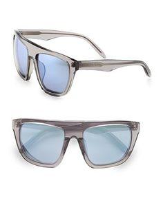 Alexander Wang by Linda Farrow Retro Modified Wayfarer Sunglasses