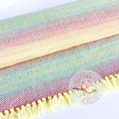 Rainbow Baby Blanket   Hand woven