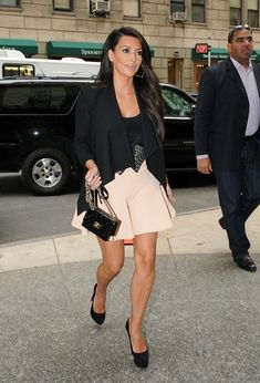 Kim Kardashian wearing Christian Louboutin Daffy Pumps