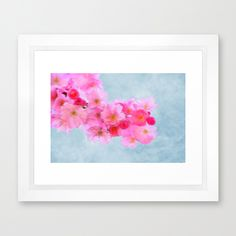 Cherry Blossom (in memory of Mackenzie) Framed Art Print #cherryblossom #print #wallart #poster #dorm #homedecor #pink #flower #spring #season #love
