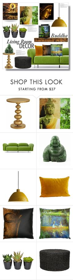 """""""Buddha"""" by queenvirgo ❤ liked on Polyvore featuring interior, interiors, interior design, home, home decor, interior decorating, Redford House, Moooi, FontanaArte and The French Bee"""