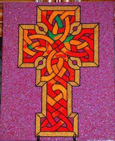 Beaded Mosaic Cross for BSCS Class Auction Project