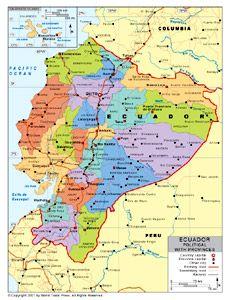 Map of ecuador ecuador south america ecuador map mapa de ecuador ecuador saturday i will be flying in to quito ecuador then we will be gumiabroncs Gallery