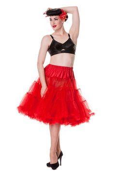 "Hell Bunny Red Full Volume Petticoat 25"" Length (L - 2XL)"