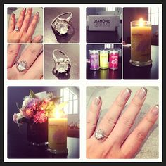Lavender Lemon candle and cute mani and ring