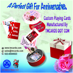 Customized Anniversary Gift Playing Cards Generally speaking, the longer the period, the more precious and/or durable the material associated with it. Golden Anniversary Gifts, 50th Wedding Anniversary, Anniversary Cards, Cool Playing Cards, Custom Playing Cards, Wedding Favours, Wedding Cards, Marriage Gifts, Customized Gifts