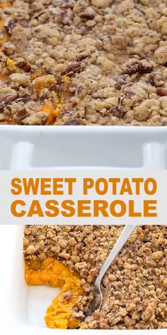 Sweet Potato Casserole Southern, Loaded Sweet Potato, Sweet Potato Pecan, Potatoe Casserole Recipes, Sweet Potato Recipes, Make Ahead Sweet Potato Casserole Recipe, Streusel Topping, Thanksgiving Recipes, Food Dishes