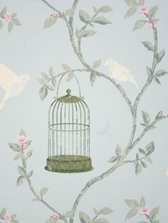 Nina Campbell Birdcage Walk wallpaper - this is the year of the bird I think