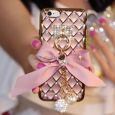 Bling Crystal Bowknot Soft TPU Case for iPhone 6 Plus / Plus inch Iphone Cases Bling, Girly Phone Cases, Diy Phone Case, Phone Covers, Iphone 6 Plus Case, Coque Smartphone, Coque Iphone, Fluffy Phone Cases, Chanel Phone Case