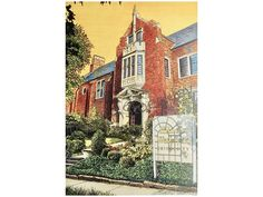 Illinois Wesleyan University LIMITED EDITION Pen and Ink and