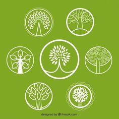 Tree Vectors, Photos and PSD files Logo Arbol, Bonsai Tree Tattoos, Restaurant Logo, Mason Jar Wedding Invitations, Pine Tree Tattoo, Tree Icon, Cool Tree Houses, Tree Graphic, Christmas Tree Painting