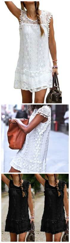 The dress is simple but has exquisite lace design and is perfect for evenings and long walks. Pretty Outfits, Pretty Dresses, Cute Outfits, Fashion Outfits, Womens Fashion, Dress To Impress, Spring Outfits, Style Me, Fashion Beauty