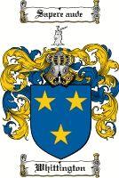 Whittington Coat of Arms / Whittington Family Crest