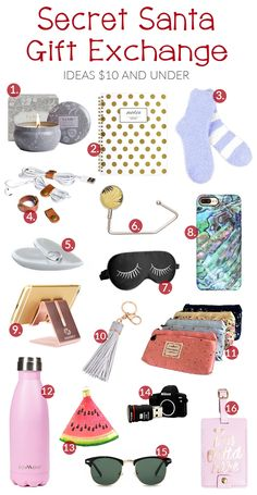 Doing a Secret Santa Gift Exchange? These are all great ideas for a Secret Santa Gift Exchange that are $10 and under!