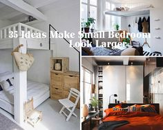 You have a small bedroom, and the tiny space make you feel cramped. These 35 inspiring ideas will help you decorate your small bedroom, and make it look bigger, brighter, and cozy. Source Source Source Source Source:  Freshome