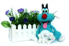Crochet toys Oggy and the Cockroaches Oggy by KnittedToysNatalia