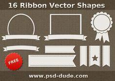 Ribbon Vector Shapes for Photoshop | PSDDude