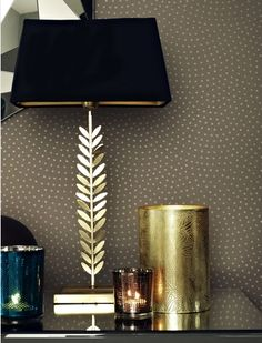Love the leaf lamp just not in gold...maybe brushed nickle!