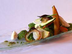 Grilled vegetables with BBQ vinaigrette