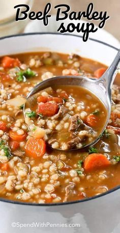 easy homemade beef barley soup