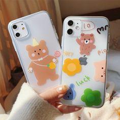 Cute Cartoon Bear Graffiti Phone Case For iPhone Coque Iphone, Iphone 7, Iphone Cases, Cartoon Bear, Cute Cartoon, Couple Cases, Girl Cases, Bear Doll, Cute Phone Cases