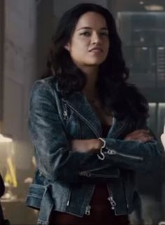 FAST & FURIOUS 7 MICHELLE RODRIGUEZ(LETTY ORTIZ) WOMEN'S JACKET- in just $229.00 only for the fans of Fast and Furious  . www.usleatherfirm.com