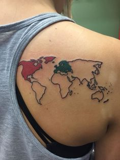 40 world map tattoos that will ignite your inner travel bug map 40 world map tattoos that will ignite your inner travel bug map tattoos tattoo and tatting gumiabroncs Images