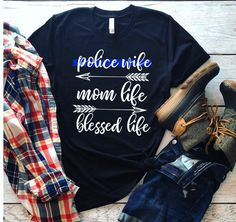 Leo Police, Police Girlfriend, Police Officer Wife, Police Wife Life, Leo Wife, Police Shirts, Blue Line Police, T Shirt Time, Mrs Shirt