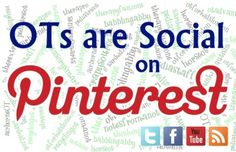 """'Social OTs"""" Discussion Board on Pinterest!  - to participate, please post your Pinterest username (followed by your twitter handle in parenthesis if you have one) to the comments below on this pin. **IMPORTANT** Make sure you add your name to the MASTER 'Social OTs' pin that can be found by clicking on the link on the blog post behind THIS PIN. Don't add your name to a the comments of a repin or you wont be with everyone else! For more important guidelines and procedures on how we will use t..."""