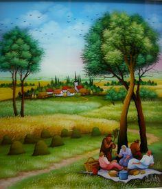 Martin Dukin | Croatian Naive Art / Harvest II