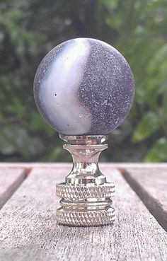 Black Lamp Finial, Glass Marble, Black Panther, Nickel, Brass ...