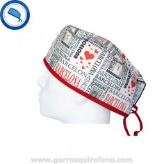 Gorro Quirofano I Love Barcelona http://www.gorrosquirofano.com/producto/gorro-quirofano-i-love-barcelona/#tab-additional_information