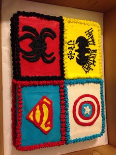 Superhero sheet cake
