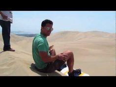 Sandboarding around the Huacachina Oasis outside Ica, Peru
