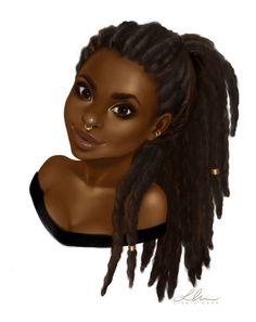 Chocolate girl art