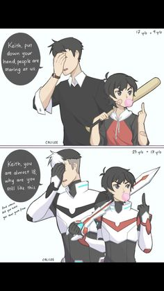 (Voltron: Legendary Defender) Shiro and Keith Shiro Voltron, Voltron Klance, Voltron Comics, Voltron Memes, Voltron Fanart, Form Voltron, Voltron Ships, Voltron Paladins, Voltron Force